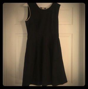 Kate Spade Black & Tan Cocktail Dress Pockets Sz10